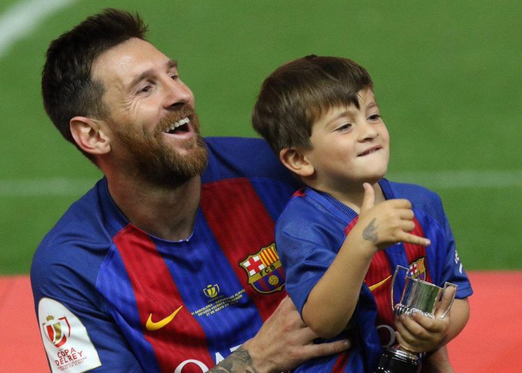 Lionel and his son Thiago