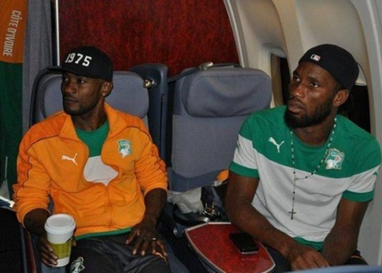Didier Zokora [L] and Didier Drogba