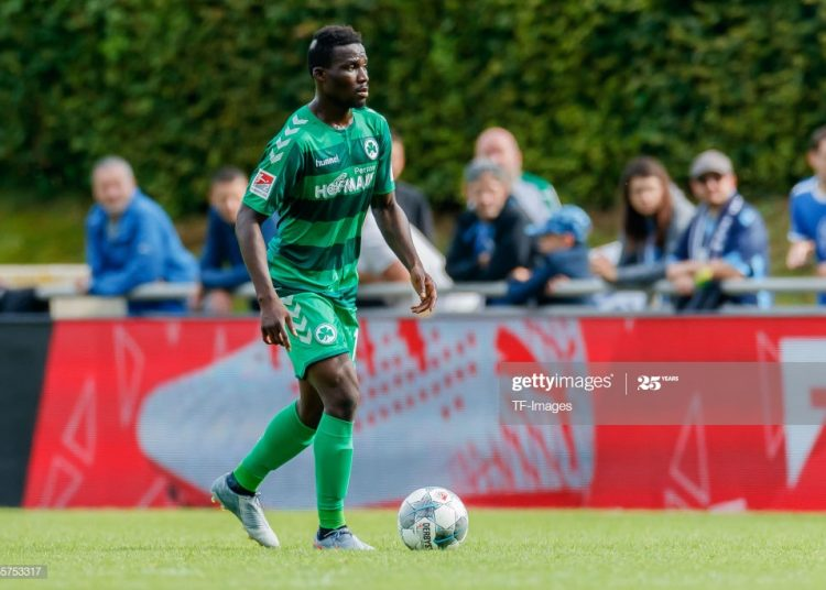 MUNICH, GERMANY - JULY 13: Hans Nunoo Sarpei of SpVgg Greuther Fuerth controls the ball during the match between 1860 Muenchen and SpVgg Greuther Fuerth at the Schauinsland Reisen Cup on July 13, 2019 in Munich, Germany. (Photo by TF-Images/Getty Images)