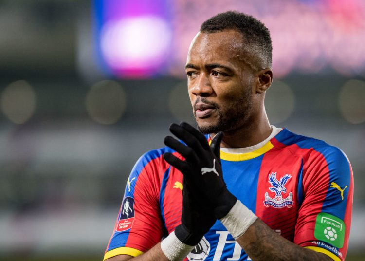 LONDON, ENGLAND - JANUARY 05: Jordan Ayew of Crystal Palace reaction during the FA Cup Third Round match between Crystal Palace FC and Grimsby Town at Selhurst Park on January 5, 2019 in London, United Kingdom. (Photo by Sebastian Frej/MB Media/Getty Images)