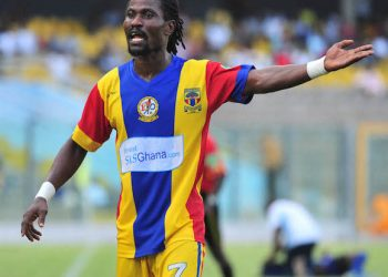 Kingston Laryea of Accra Hearts of Oak at the Glo Premier League ©Christian Thompson/BackpagePix