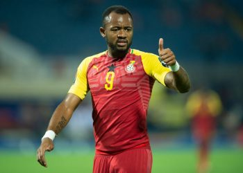 ISMAILIA, EGYPT - JUNE 25: JORDAN PIERRE AYEW of Ghana during the 2019 Africa Cup of Nations Group F match between Ghana and Benin at Ismailia Stadium on June 25, 2019 in Ismailia, Egypt. (Photo by Visionhaus)