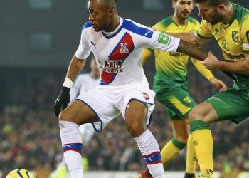 Jordan are in action for Crystal Palace against Norwich City