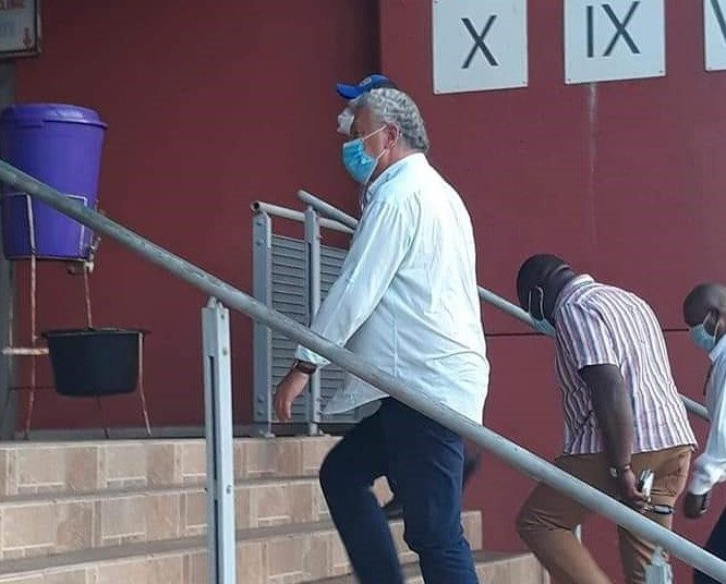 Kosta Papic spotted at the Accra Sports Stadium ahead of Hearts of Oak switch