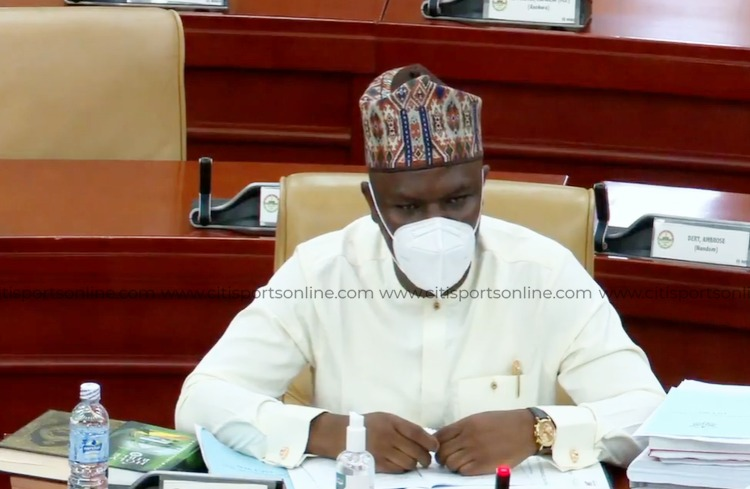 Youth and Sports Minister-Designate, Mustapha Ussif during his vetting