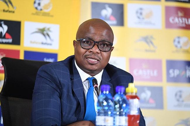 JOHANNESBURG, SOUTH AFRICA - JANUARY 22: SAFA CEO Tebogo Motlanthe during the SAFA press conference at SAFA House on January 22, 2021 in Johannesburg, South Africa. (Photo by Lefty Shivambu/Gallo Images)