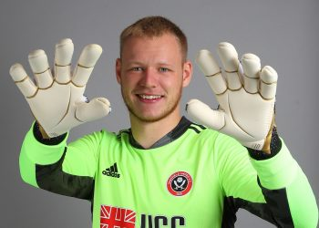 Goalkeeper Aaron Ramsdale signs for Sheffield United at Bramall Lane, Sheffield. Picture date: 19th August 2020. Picture credit should read: Simon Bellis/Sportimage